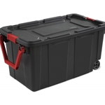 40 Gallon/151 Liter Wheeled Industrial Tote, 2-Pack