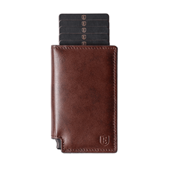 Parliament Slim Leather Wallet- RFID Blocking- Quick Card Access